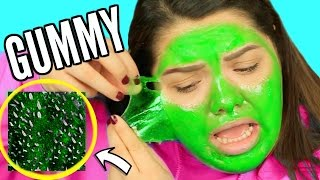 GUMMY FACE MASK?! Weirdest DIY Face Mask!