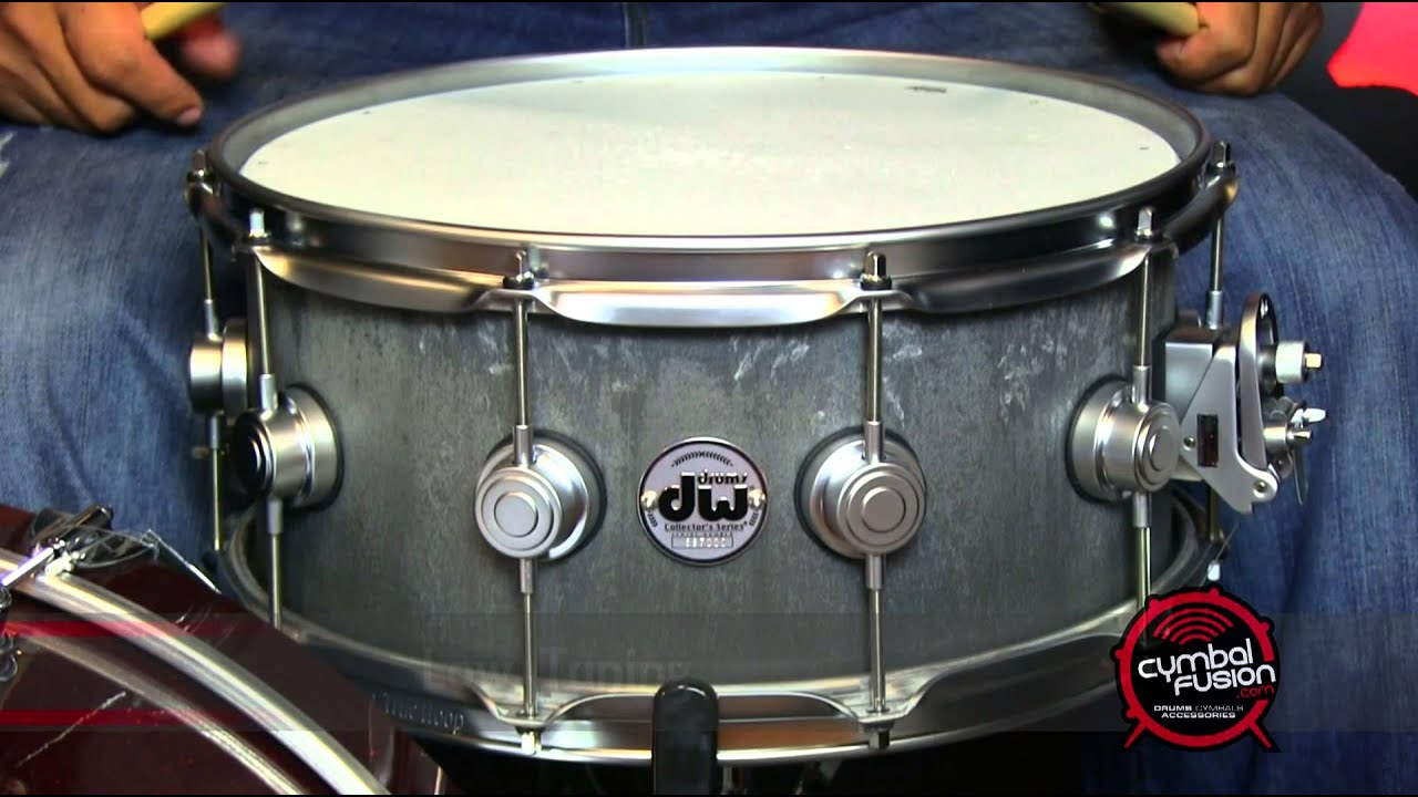 dw collector 39 s series concrete snare drum 6 5 x 14 youtube. Black Bedroom Furniture Sets. Home Design Ideas