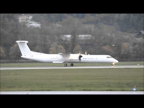 G JEDK Dash 8Q400 Amra Leasing/UNO take-off at Innsbruck
