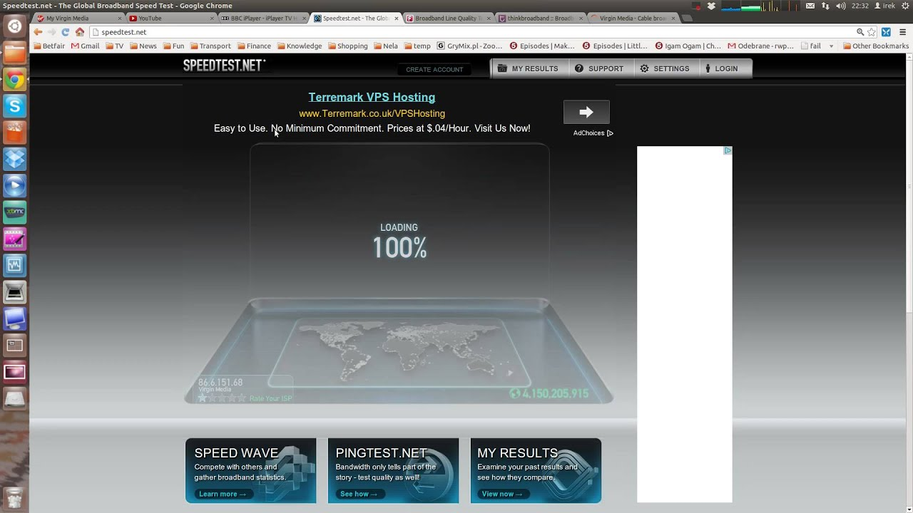 Virgin Media 100 Mb broadband speed and quality test ...