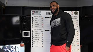 LeBron Constructs Roster For NBA All Star Game