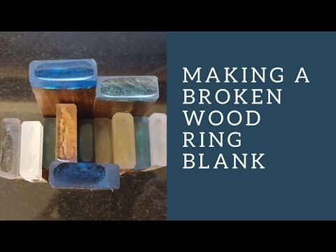 Making a broken wood ring blank
