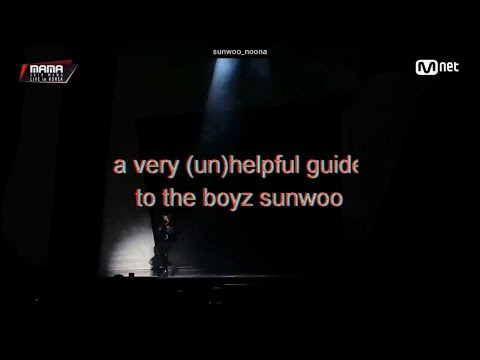 A VERY (UN)HELPFUL GUIDE TO THE BOYZ SUNWOO