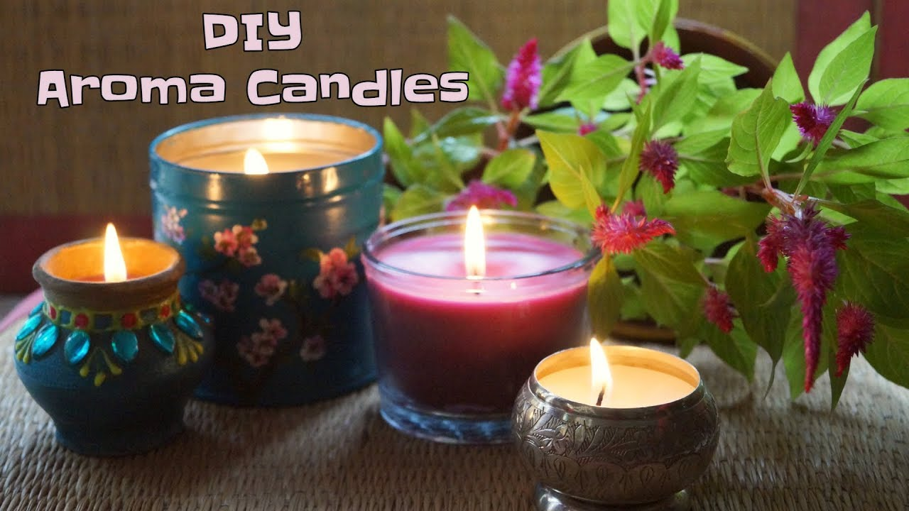 How To Make Scented Candles | DIY Aroma Candles - YouTube