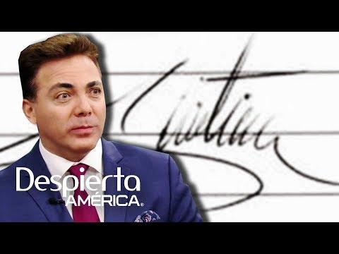 Caliente, coqueto y dramático: el análisis grafológico de Cristian Castro