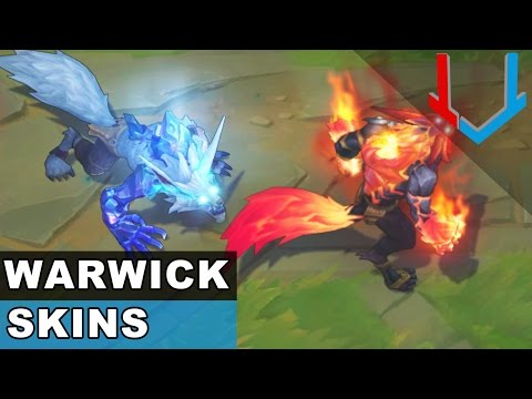 All Warwick Skins Spotlight - New Champion Rework 2017 Full Version (League of Legends)