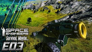 Space Engineers Survival, Maybe... || E03 - Upgrading Tools & Designing the Base || TimmyCarbine