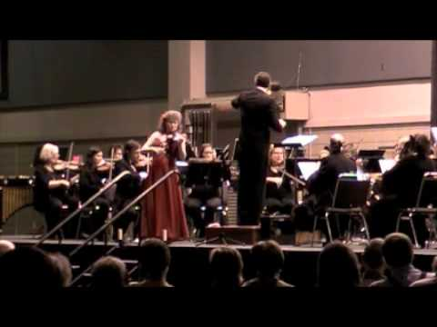 Marta Szlubowska and Mississippi Symphony, Mozart VIolin Concerto No.5 in A Major, I mvm.