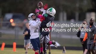 Live Broadcast, Clearwater Academy Knights Football Vs Madison County, Friday 10-18-19 5:10 PM EDT