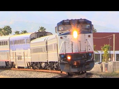 AMTRAK TRAINS (April 26th - May 16th, 2016) + BNSF METROLINK/TRAINS