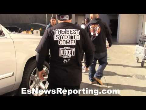 EXCLUSIVE vip arrival to media workout with Mikey Garcia - EsNews Boxing
