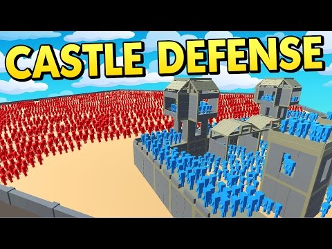 EPIC CASTLE DEFENSE WITH NEW UNITS! (Ancient Warfare 2 Update Sandbox Gameplay)
