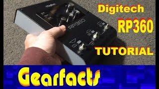Digitech RP360 demo and tutorial