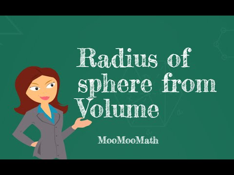 Finding the radius of a sphere given the volume youtube ccuart Choice Image