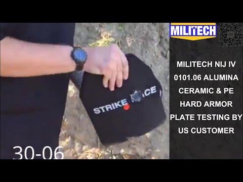Militech--Customer's NIJ IV 0101.06 Alumina Panel Multi Hit Testing VS 30-06, .308 and 5.56 AP