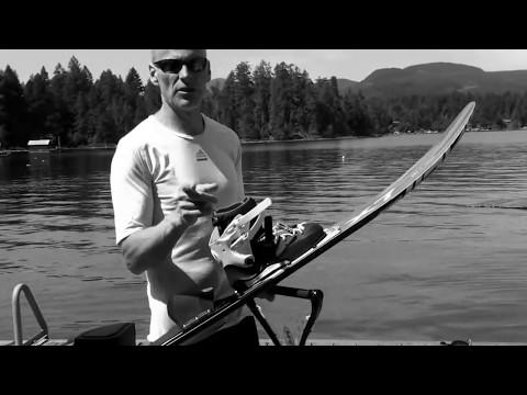 Slalom One Ski Deepwater starts - waterskiing instructional
