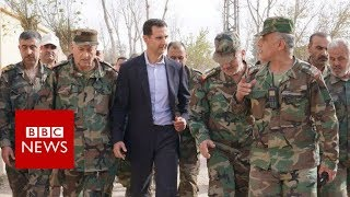 Syrian president Bashar al-Assad has made his first visit to Easter...
