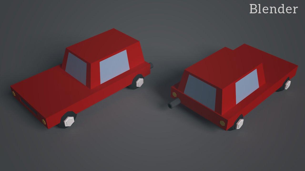 Blender tutorial low poly car youtube blender tutorial low poly car baditri Choice Image