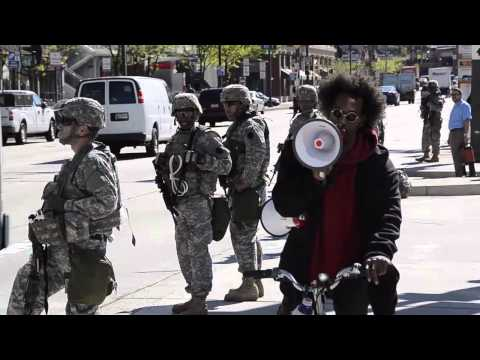 Raw - Maryland National Guard in Baltimore