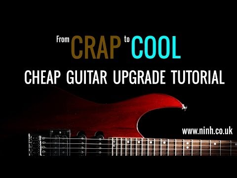 Cheap Guitar Upgrade - How to Turn Crap into Cool (Yamaha Pacifica Electric Guitar Project)