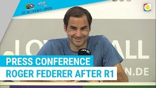 Roger Federer Press Conference after his win against Millman | Noventi Open | myTennis