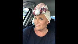 Easy ways to tie a head scarf during chemo - cancer - hair loss