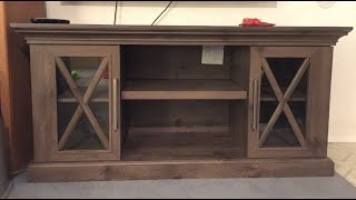 Home Depot Cottage Grove TV stand Step-by-Step assembly.