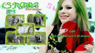 SMILE (karaoke/instrumental) - Avril Lavigne (with lyrics onscreen)