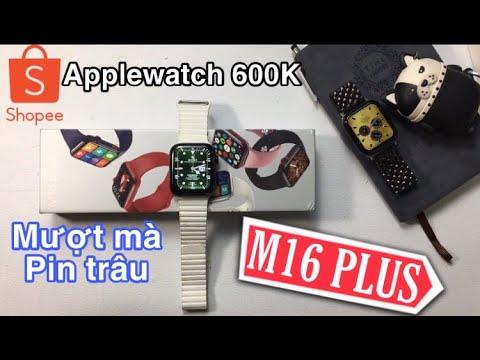 Đánh giá chi tiết: M16 PLUS Smartwatch mượt mà núm xoay Digital như Applewatch Real-REVIEW M16 PLUS
