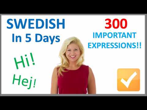 Learn Swedish in 5 Days - Conversation for Beginners