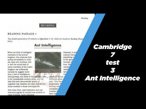 Ant Intelligence Cambridge 7 Test 3 IELTS READING Solution Part 1