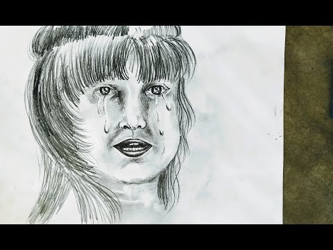 Face of crying child,-how to draw face of crying  child with pencil, ever art painting tutorial