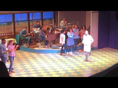 Stephanie Torns, Erich Bergen, Katie Lowes, Adam Shapiro & Waitress cast take their bows