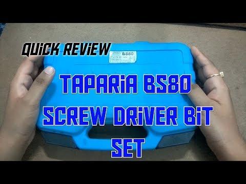 Quick Review: Taparia BS80 Screw Driver Bit Set.