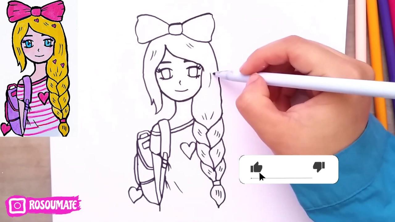 رسم سهل تعليم رسم انمي بنت سهل خطوة بخطوة رسم بنات Youtube