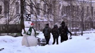 Суперржач в Томске испуг снеговик снегов...