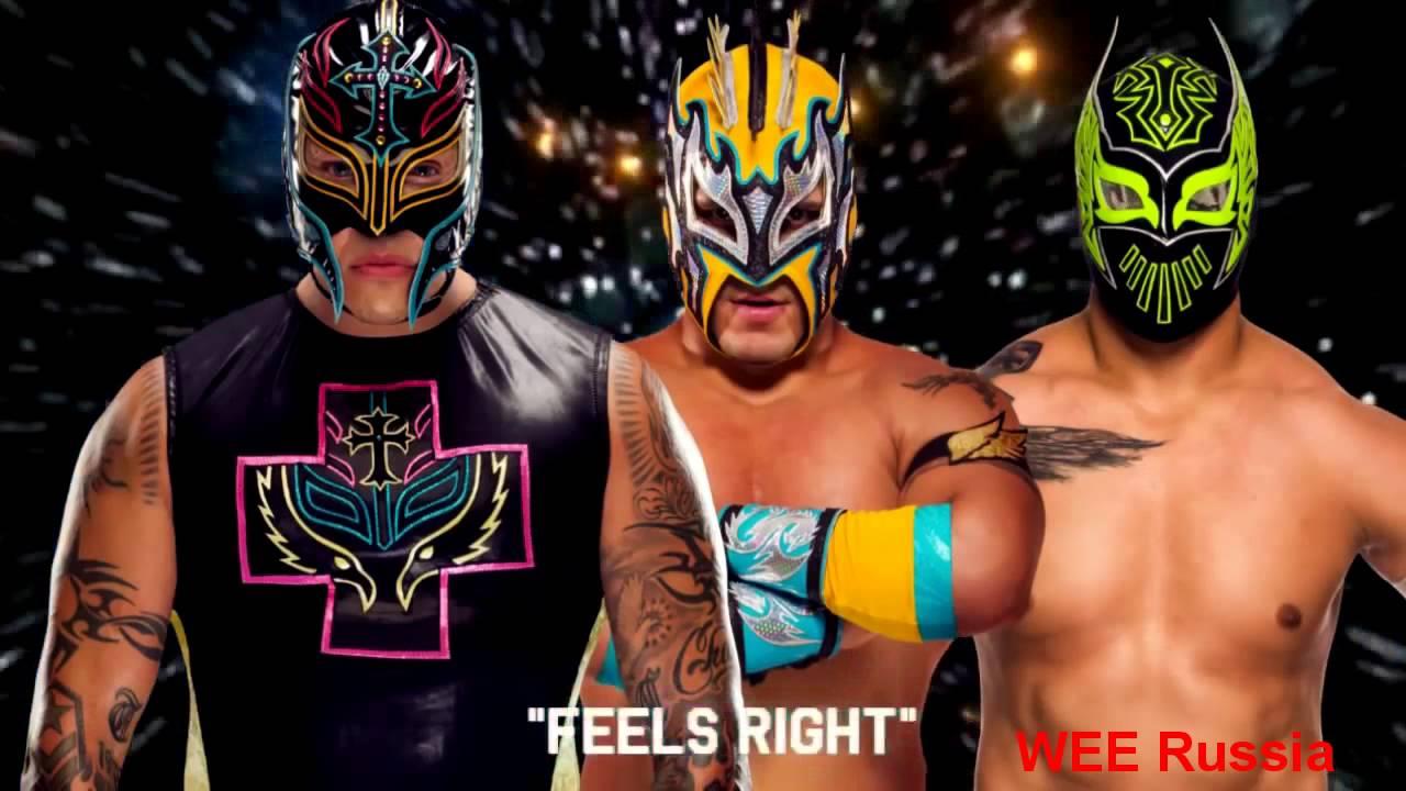 WWE Kalisto & Rey Mysterio vs Sin Cara - YouTube