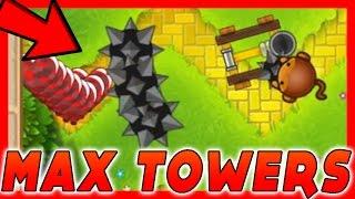 4-4 MAX TOWERS MOD!! Bloons TD Battles / BTD Battles