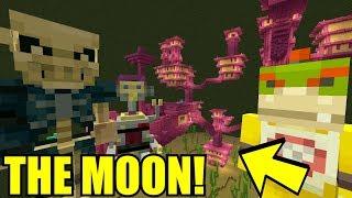 *EVIL* BASE ON THE MOON! | Nintendo High School | Minecraft [76]