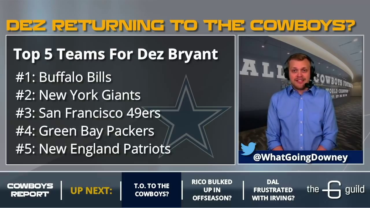 Cowboys Rumors Dez Bryant Return Rico Gathers Bulking Up And David Irving At Minicamp