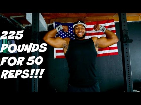 Bench Press|225 Pounds for 50 Reps|Raw Footage|Training Day