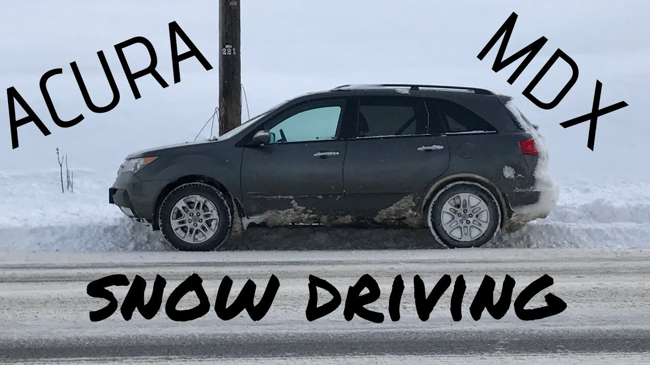 Acura Mdx Snow Driving