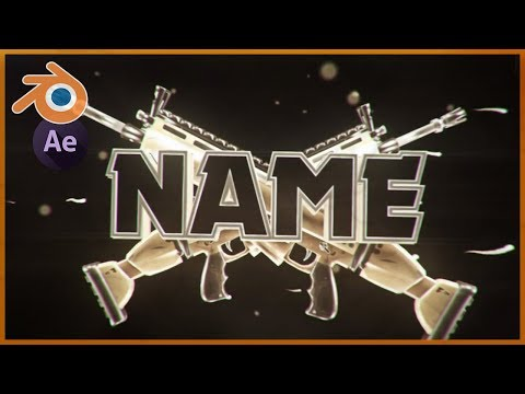 BEST SCAR FORTNITE 3D Blender Intro Template (Blender & After Effects) + Free Download