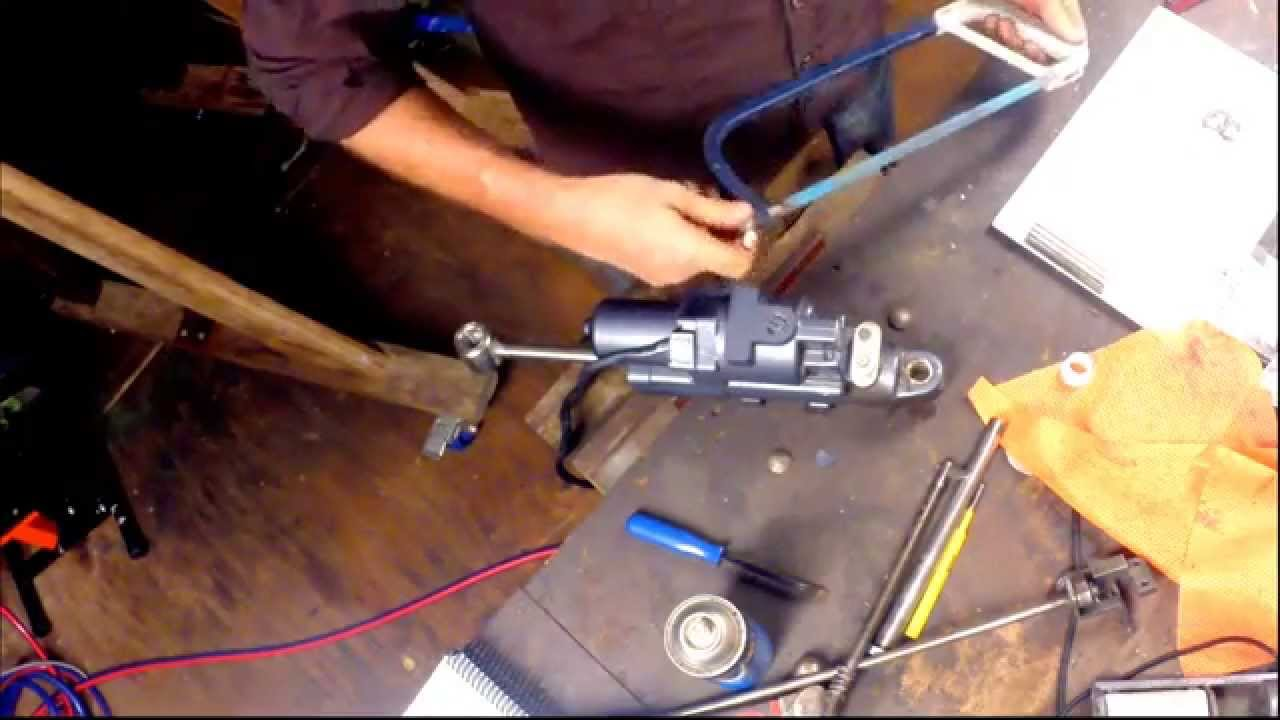 Mercury Outboard Power Trim Wiring Diagram 7 Way Trailer Plug Side Installing A Tilt Unit In An Motor Youtube