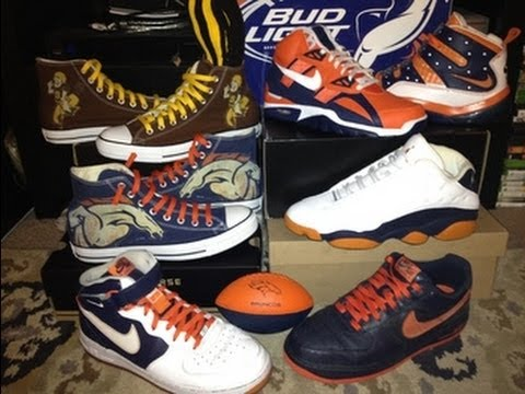 2f7d1a9f02d5 Nike Air Trainer SC High (NFL) Denver Broncos + Converse Chuck Taylor  Denver Broncos Customs