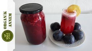 Organik Annemden Şekersiz Kara Erikli Meyve Suyu Konsantresi Tarifi
