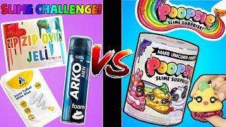 Poopsie Slime Surprise Unicorn Slime Challenge! DIY Sürpriz Slime'ını Kendin Yap! Bidünya Oyuncak