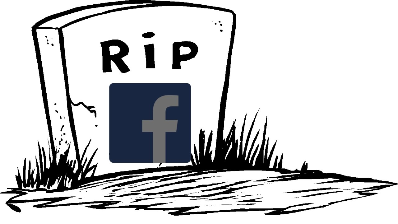 how to close facebook account death