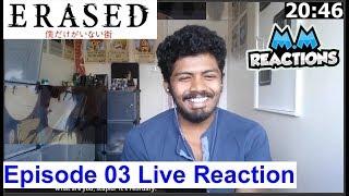 Abused & Happiness - Erased Anime Episode 3 Live Reaction (Boku dake ga Inai Machi)