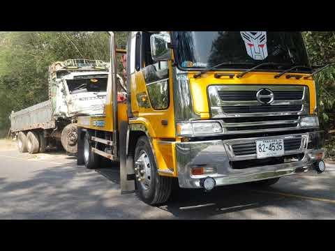 ทีมงาน ตั้ว ศรีเทพรถยก ไปเก็บกู้รถบนเขาน้ำอ้อม วิเชียรบุรี เพชรบูรณ์  รถยกสิบล้อ ลากรถบรรทุก